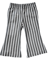 grey & white striped toddler girls pants