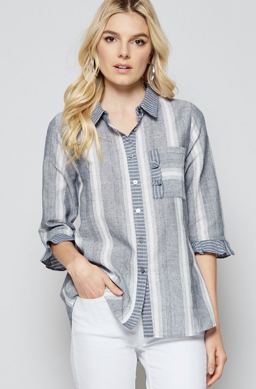 A Fresh Start Chambray Top