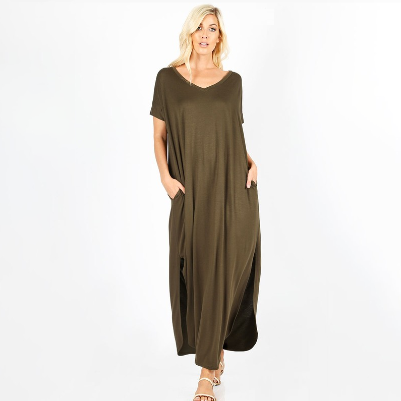 More to Love Olive Maxi Dress