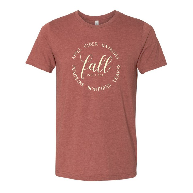 Fall Sweet Fall Clay Graphic Tee