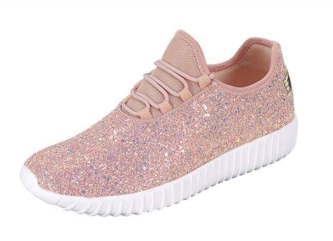 Touch of Glam Dusty Rose Sneakers