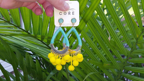 Just a Drop Yellow & Mint Earrings