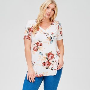 Moving Closer Ivory Floral Top