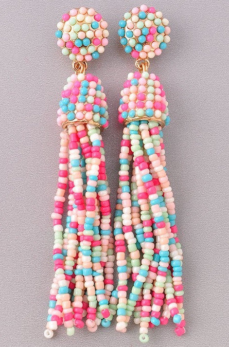 Life is Sweet Pink & Blue Earrings