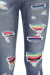 On Your Level Serape Jeans