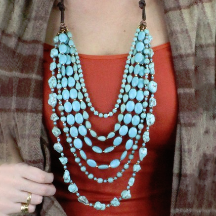 Piece of Me Turquoise Layered Necklace