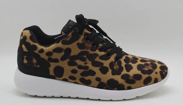 All Eyes On Me Leopard Print Sneakers