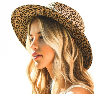 Close to My Heart Leopard Felt Hat
