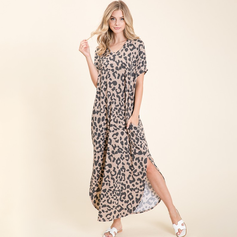 How Sweet It Is Leopard Maxi Dress