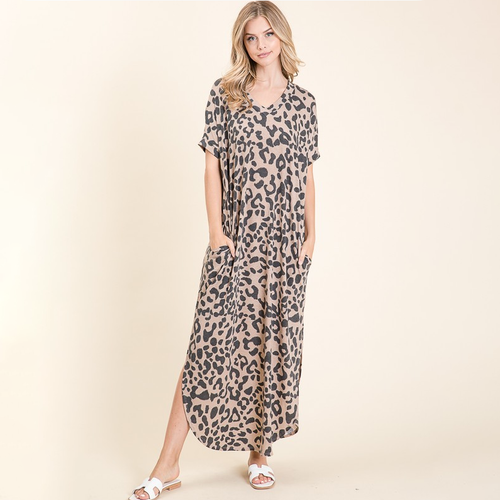 Wild About You Leopard Maxi Dress