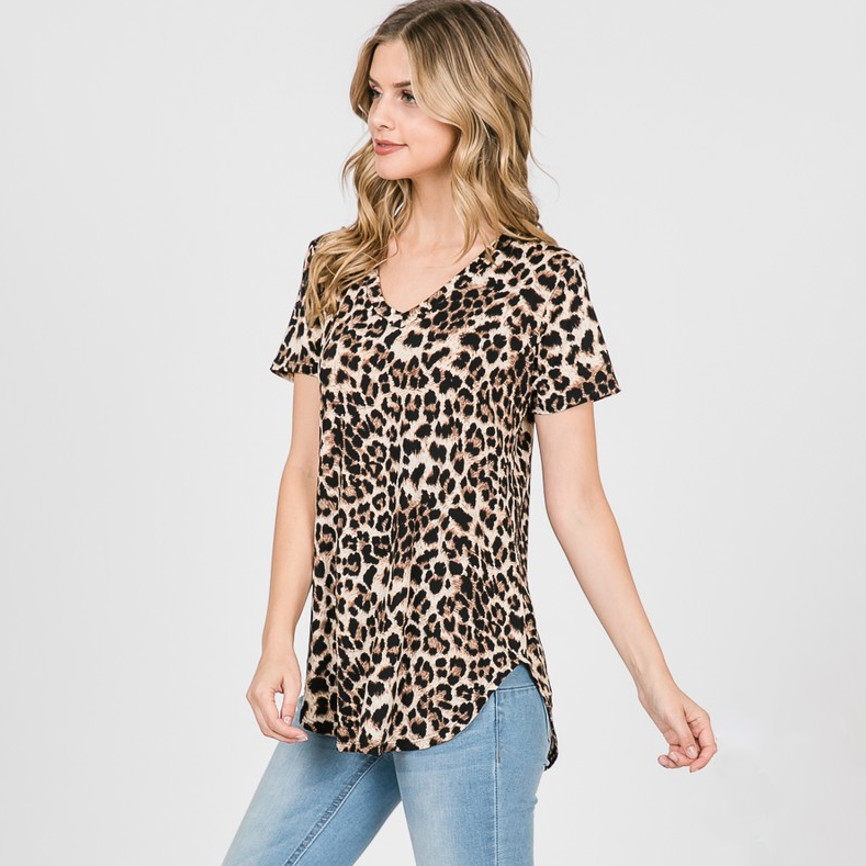 Here To Stand Out Leopard Top