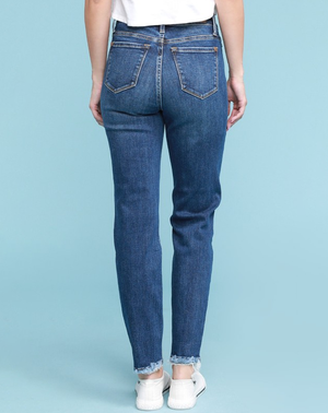 mom style mid rise jeans