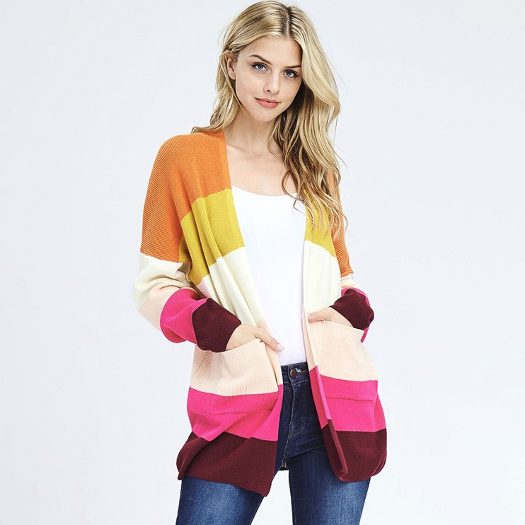 Color My World Cardigan Sweater