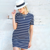 Effortless Style Navy Dress