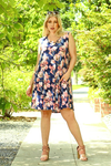 Escape With Me Navy Dress