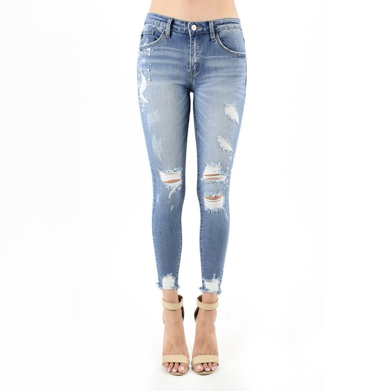 Born to Shine Rhinestone & Pearl Jeans