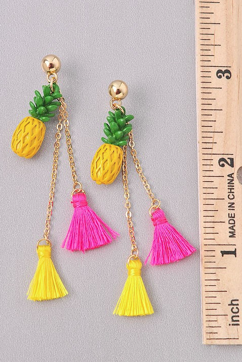 Vacay All Day Pineapple Earrings