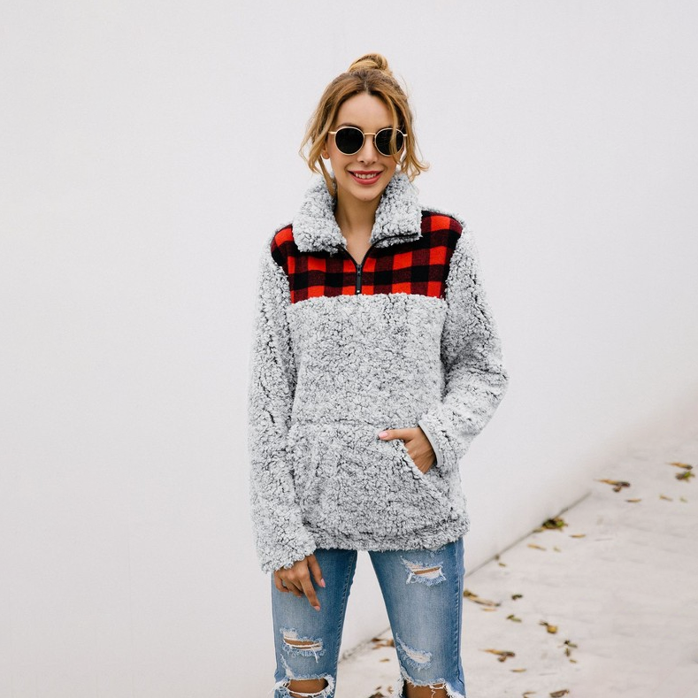 Feels For Fall Plaid Sherpa Plaid