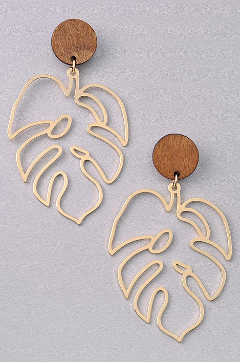Leaf It To Me Gold Earrings