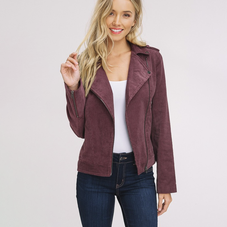 Feeling Myself Plum Corduroy Jacket