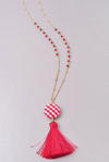 Check it Out Gingham Necklace