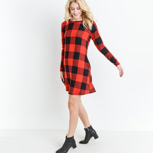 Make a Wish Red Plaid Dress