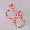 Go Your Own Way Red & White Striped Earrings