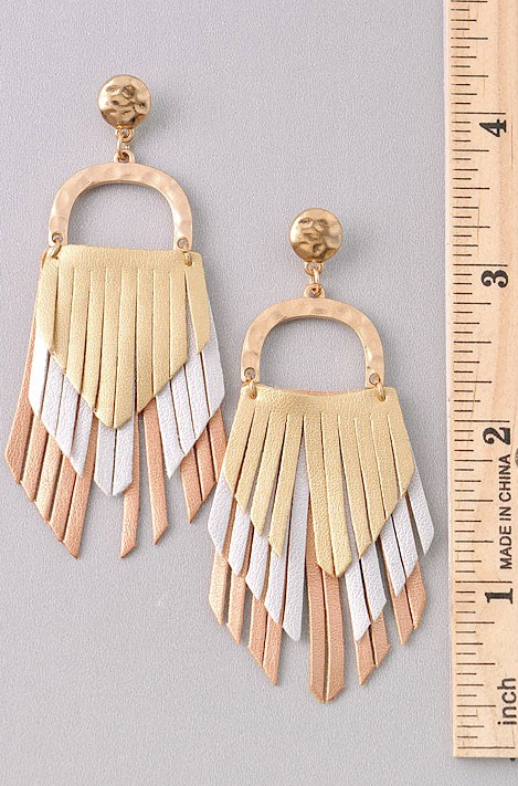 Simply Dazzling Gold Earrings