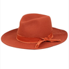 women's copper rust felt hat