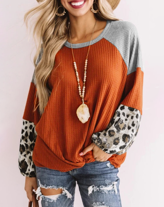 Stole My Heart Rust Top