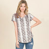 Stealing Your Heart Snake Print Top