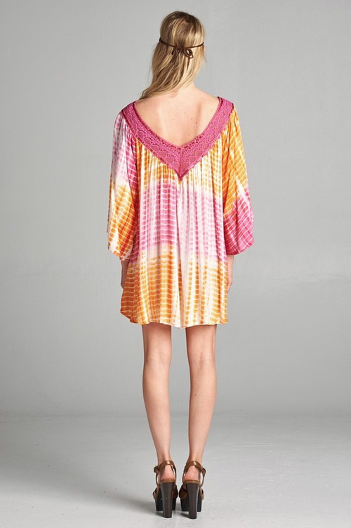Tuscan Sun Pink Tunic Top