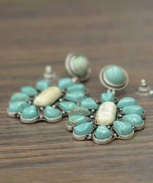 Follow Along Turquoise Earrings