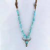 Ride It Out Bullhead Turquoise Necklace
