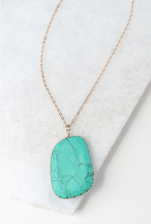 A Little Extra Turquoise Necklace