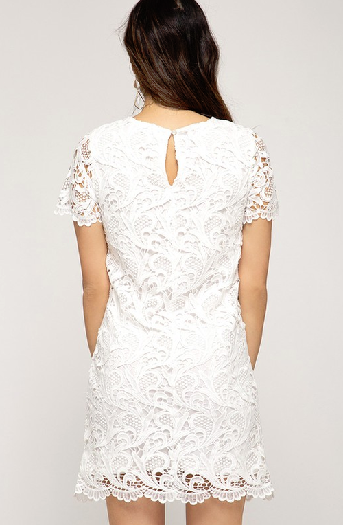 The Right Time White Lace Dress