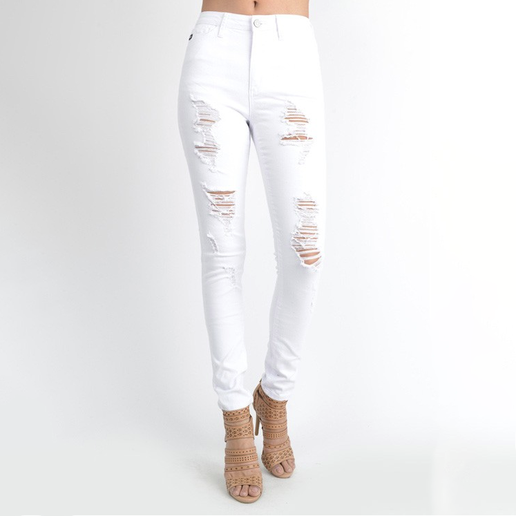 Get it Girl White Denim Jeans