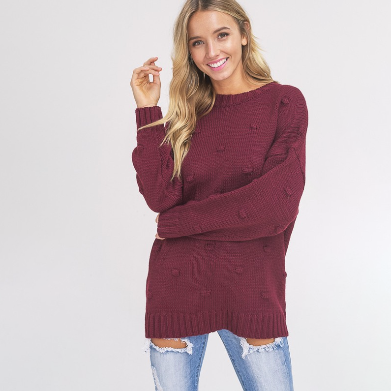 Taking My Time Wine Sweater