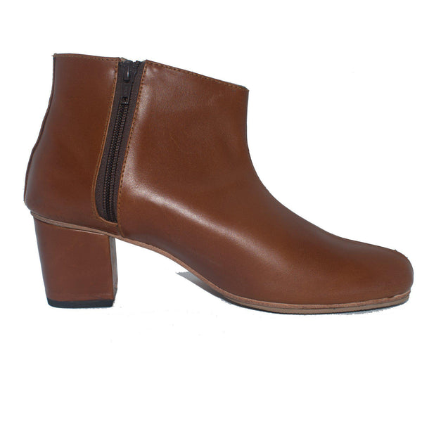 Mirielle Ankle Boot in Cognac Brown