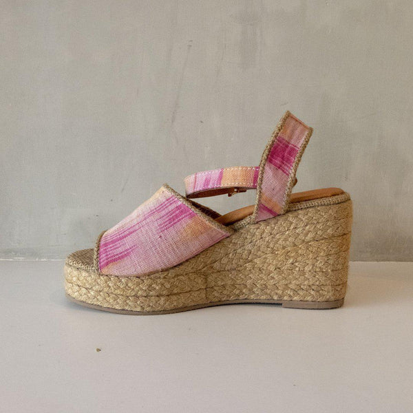 Kellie Wedge Espadrille in Pink