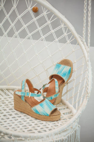 Kellie Wedge Espadrille in Blue