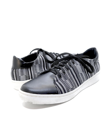 Poch Leather Sneaker in Black