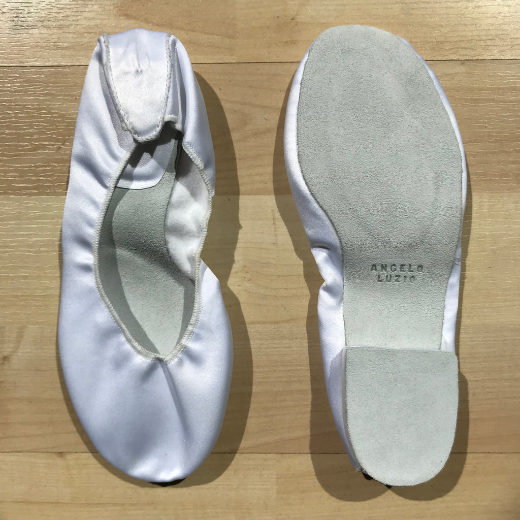 Satin Slippers (white)