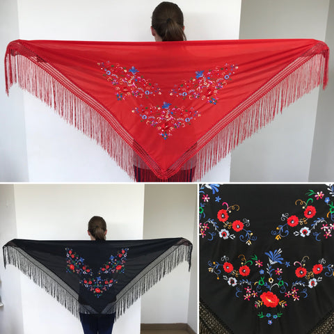 Flamenco shawl (embroidered)