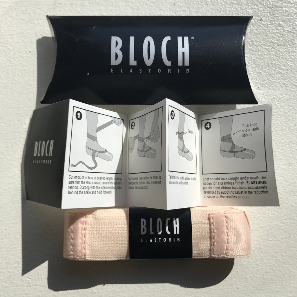 Pointe shoe ribbon with elastic inserts