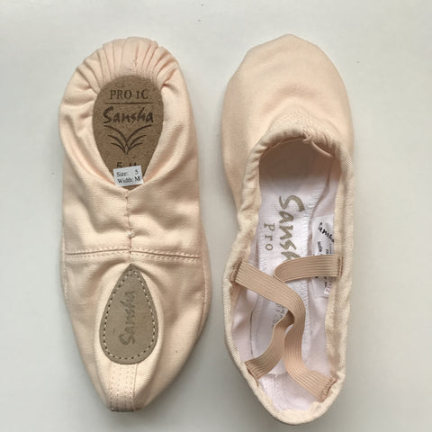 Sansha Pro 1C canvas ballet slipper
