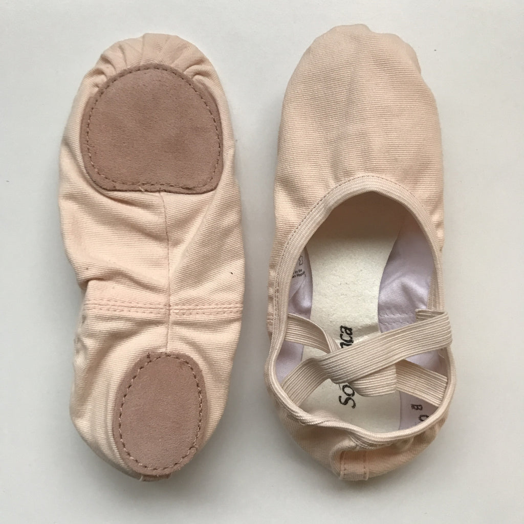 SoDanca SD16 split sole stretch canvas ballet slipper