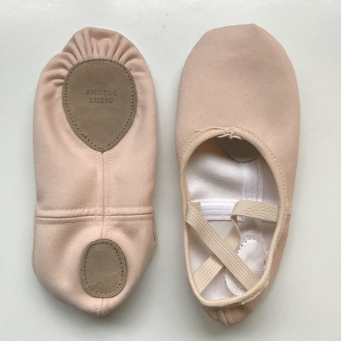 Angelo Luzio stretch canvas ballet slipper
