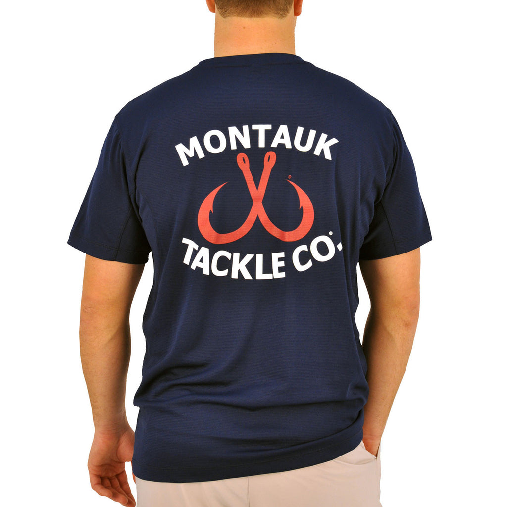 Men's Performance Graphic Tee - Classic Logo Navy