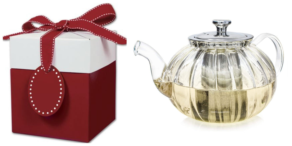 6 Blooming Tea and Vienna Glass Teapot Gift Set